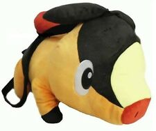 "Pokemon 15"" Tepig Plush Backpack Tote with small compartment- NEW with Tags"