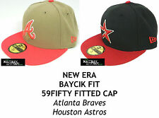 NEW ERA BAYCIK FIT MLB 59FIFTY FITTED CAP - ATLANTA BRAVES/HOUSTON ASTROS