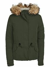 Ladies Winter JACKET LUCCA SHORTS PARKA JACKET peat khaki green Fur Hood