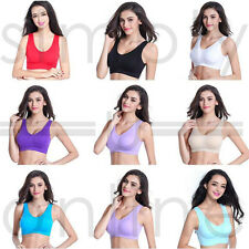 Ladies Seamless Sports Style Bra Crop Top Vest Comfort Stretch Bras Shapewear