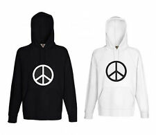 Damen Peace Pulli Kapuzen Sweatshirt Pullover Fruit of the loom Hoodie Hoody