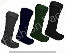 Mens Warm Winter Socks Fleece Liner Wellington Warmer Wellie Boot Wok Long Socks