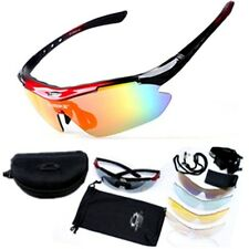 Mens Sunglasses 5 Lenses UV400 Goggles Eyewear Bike Cycling Driving Sun Glasses