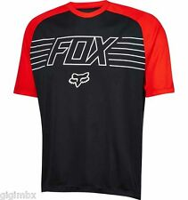 FOX MAGLIETTA MTB MOUNTAIN BIKE RANGER PRINT SS JERSEY NERO down hill bici