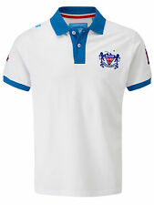 Bunker Mentality Mens Crested Clubhouse Polo - White RRP £55