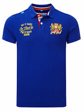 Bunker Mentality Mens Clubhouse Bunker Golf Club Polo - Bright Navy RRP £55