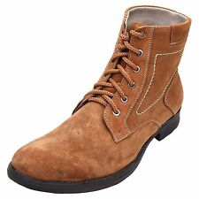 FBT Men's 1122 Tan Ankle Leather Casual Boots
