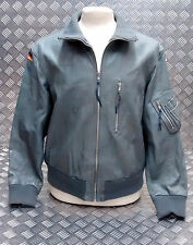 Vintage Luftwaffe Allemande Armée De L'air Cuir Gris Veste D'aviation