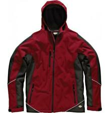 Dickies bicolore giacca in softshell Cappotto impermeabile PILE LAVORO Rosso