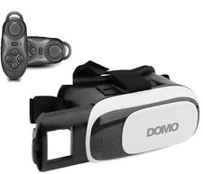 COMBO Offer DOMO nHance VR9 + BC1 Remote 3D Video VR Headset Google Cardboard