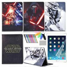 Star Wars Cartoon Case for Samsung iPad Tablets PU Stand Protective Flip Cover