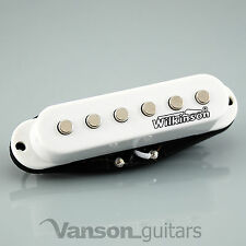 1 x NEW Wilkinson HOT Single Coil Pickup for Strat®* guitars, WHITE MWHS