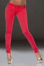 Skinny Jeans Donna Pantaloni COLOUR DENIM Trousers C097 Tg 46 48