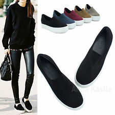 a8210fb2dc1 AnnaKastle New Womens Faux Suede Stretch Slip-On Platform Sneakers US 5 6 7  8