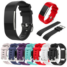 Luxury Sports Silicone Watch Band Strap Replacement Bracelet For Fitbit Charge 2