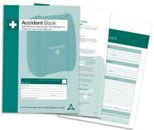 A5 Accident Record Book First Aid Injury | Data Protection Act 1998 Compliant