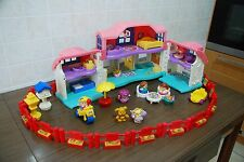 Fisher Price Little People 13 Casa Stalla Aereo Parco Bus Treno Auto Animali Zoo