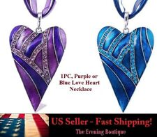 Hot Charm Fashion Heart Jewelry Glass Chain Statement Women Necklace Pendant