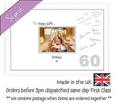 60th Birthday Signing Guest Photo Frame Gift 7x5 Photo by Photos in a Word 676DW