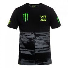 NUOVO UFFICIALE VALENTINO ROSSI VR46 2016 MONSTER T-SHIRT NERA - momts 216704