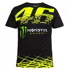 NUOVO UFFICIALE VALENTINO ROSSI VR46 2016 MONSTER T-SHIRT NERA - momts 216804