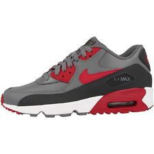 Nike Air Max 90 Leather GS Schuhe grey red Sneaker 833412-007 Skyline Command BW