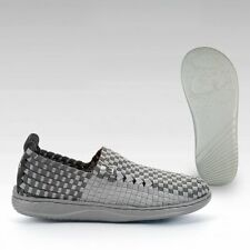 Hey Dude Shoes Womens Moka E-Last 6 Woven Elast Textile Grey