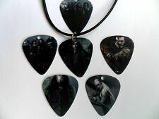 LORD OF THE RINGS  Two Sided Guitar Pick / Plectrum Leather Necklace 6 to Choose