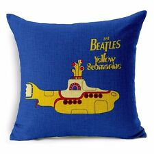 The Beatles YELLOW SUBMARINE Retro Music Cover Throw Cushion Stuffed Pillow Gift