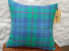 HARRIS TWEED Coastal HEBRIDEAN SEA  Check Cushion Cover all sizes available