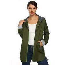 Donna giacca lunga Autunno Parka trench Sportiva Cardigan Cappotto