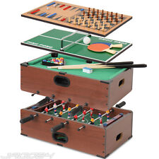 Table multi-jeux 5 en1 babyfoot billard échec backgammon tennis de table jeu