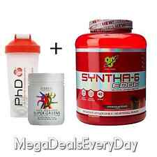 BSN Syntha 6 Edge Muscle Whey Protein Shake 48 Servings + Supergreens 200g