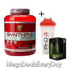 BSN Syntha 6 Edge Muscle Whey Protein Shake 48 Servings + Grenade Black Ops