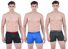 Dollar Bigboss Men's Interlock Pocket Trunk (Pack of 3) (BB-SPCD-BLK-LB-BGREEN)