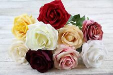 Stunning Soft To Touch Single Open Rose Artificial Silk Flowers Long Stem Rose