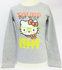 filles young but SAGE HELLO KITTY t-shirt manches longues gris
