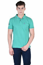 Force Go Wear Men's T-Shirt (Pack Of 1) (MFCO-111-PO-1-Polo-T-Shirt-L_Green)