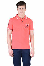 Force Go Wear Men's T-Shirt (Pack Of 1) (MFCO-222-PO-1-Polo-T-Shirt-Coral)