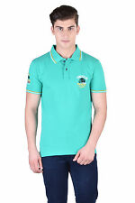 Force Go Wear Men's T-Shirt (Pack Of 1) (MFCO-222-PO-1-Polo-T-Shirt-L_Green)