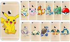 Pokemon Go Inspired Pikachu Phone Clear Case Cover for Apple iPhone 5S/6S/Plus