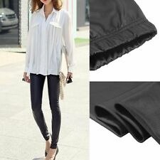 Fashion new  Women Faux PU Leather Skinny Pencil Pants Tights Trousers BF