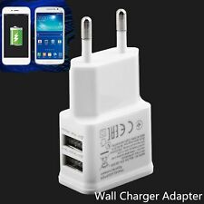 5V 2A Dual USB Port EU Plug AC Wall Charger Adapter For Cellphone Tablet WhiteBF