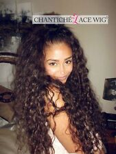 Curly Wigs Brazilian Remy Human Hair Lace Front/Full Lace Wig with High Ponytail