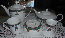VILLEROY & BOCH GERMANY BONE CHINA MAGIC CHRISTMAS TEA COFFEE POT MUGS PLATTER
