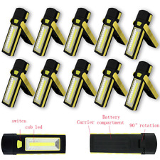 10x MAGNETIC MINI RECHARGEABLE SMD LED INSPECTION WORK LAMP LIGHT FLASHLIGHT F&