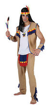 Adults Indian Brave Warrior Wild West Costume Fancy Dress Outfit