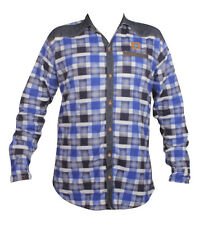 Denim Long Sleeve Checkered Blue Color Men's Casual Shirt(Size-L)