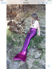 SWIMMABLE CHILDRENS KIDS MERMAID TAIL COSTUME FOR MONOFIN FREE MERMAID PURSE