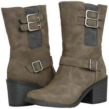 Womens Rocket Dog Dayton Heeled Casual Ankle Boot Black Grey Brown New Size